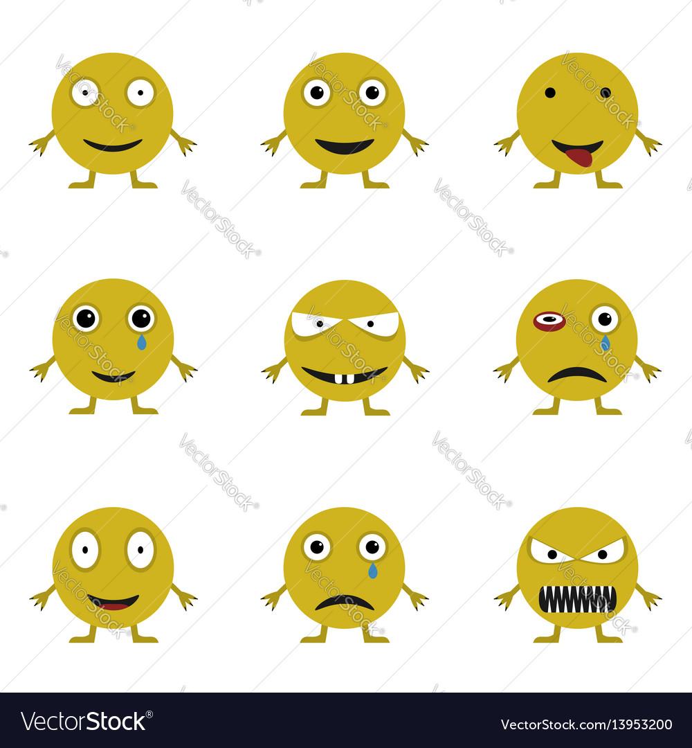 Smile icon set vector image