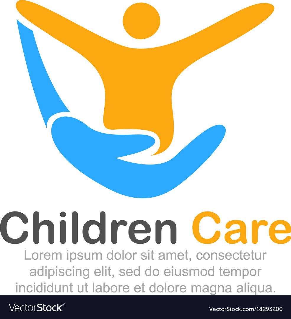 Template logo for children care