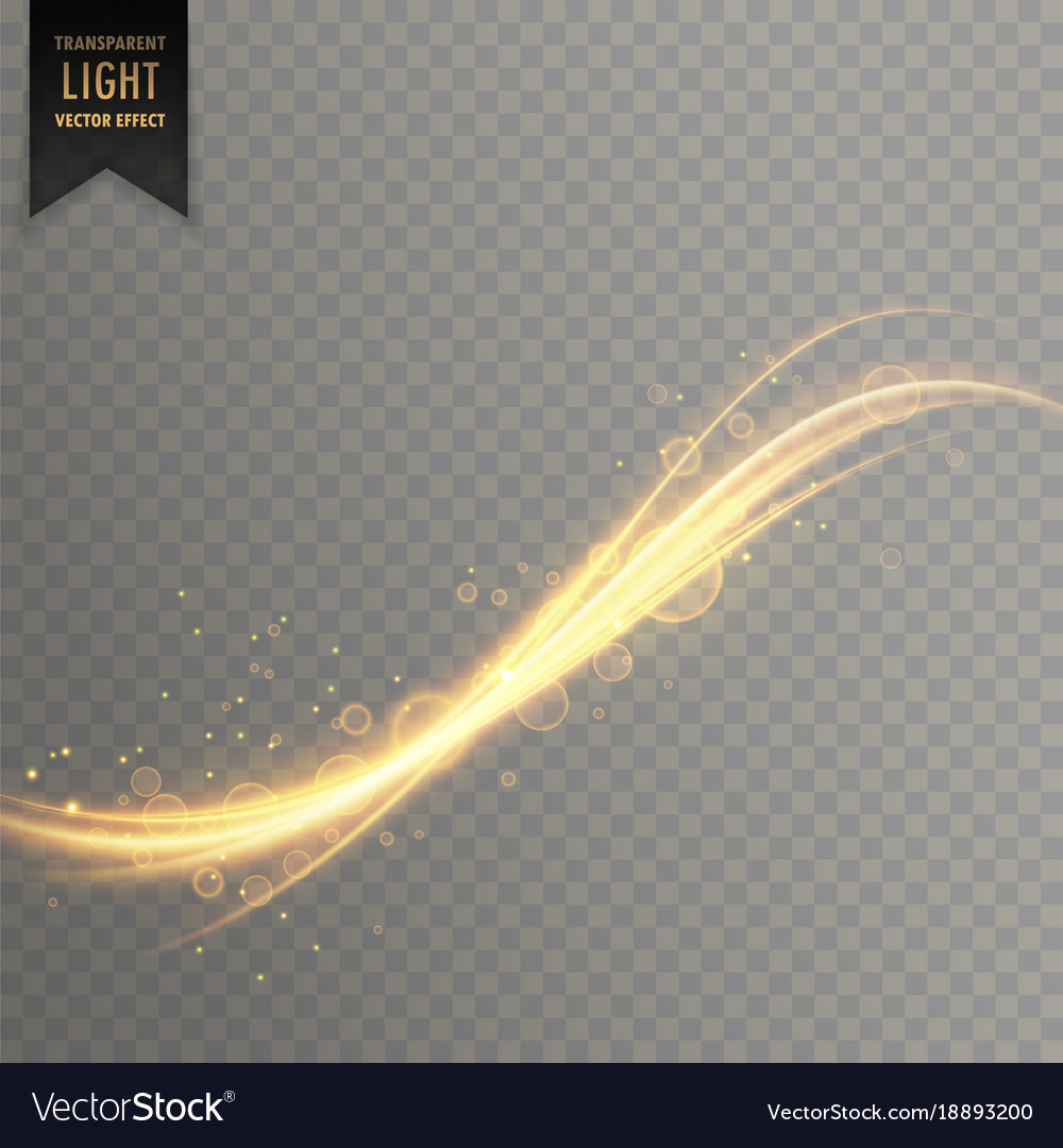 Transparent golden light streak effect background