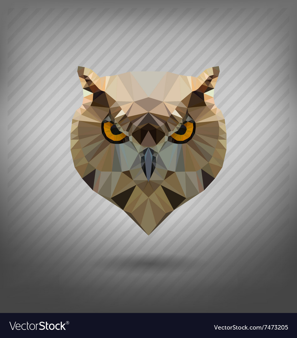 Abstract triangle polygonal owl