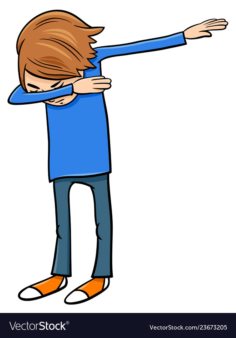 Boy doing dab cartoon