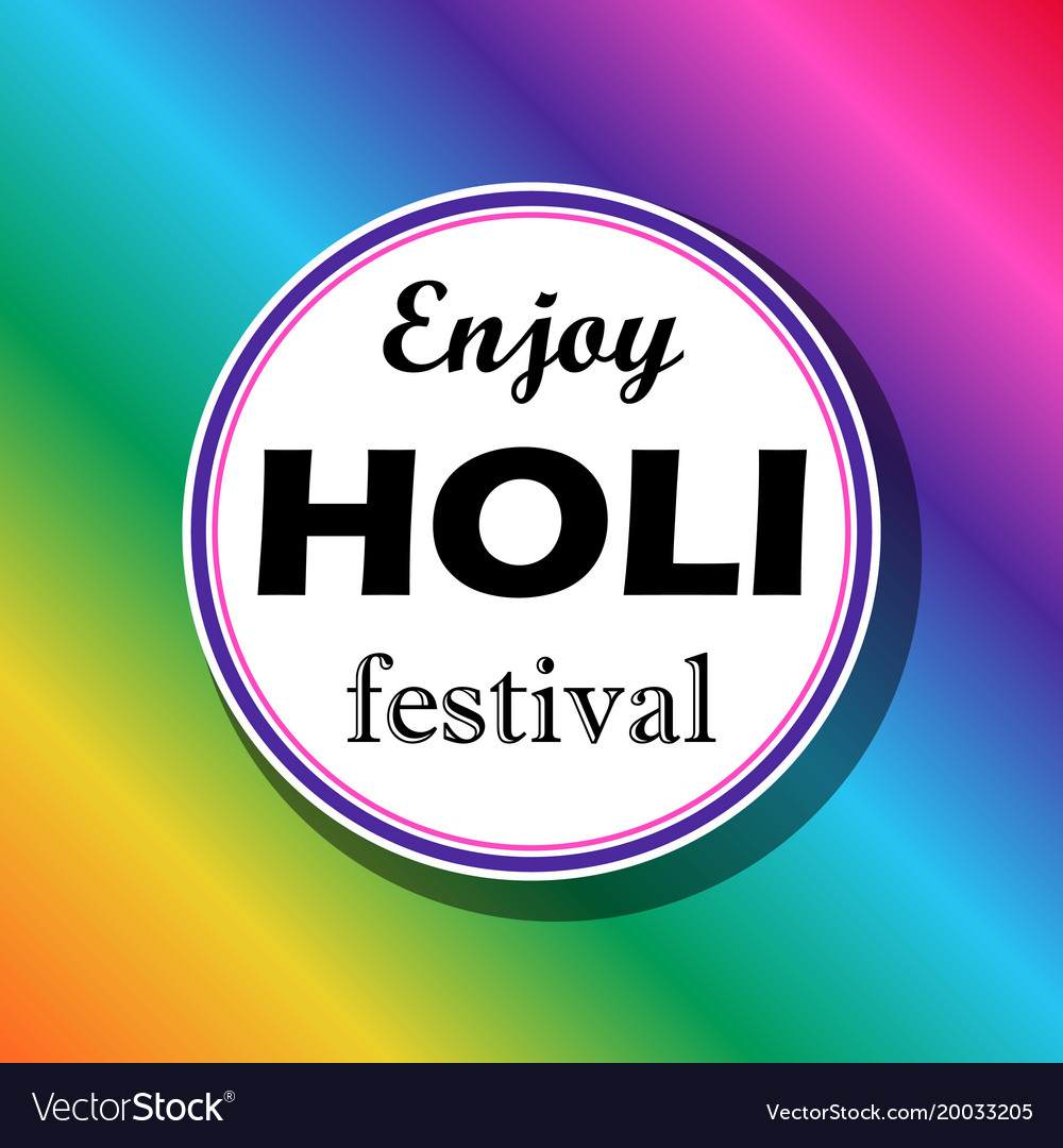 Bright for a festival of paints holi vector image