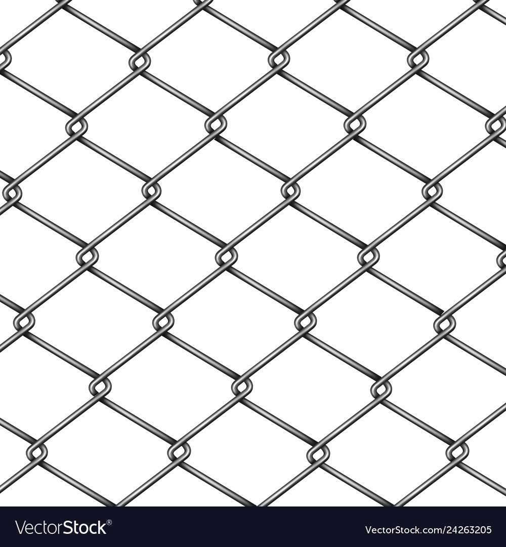 Chain-link fence pattern 3d realistic