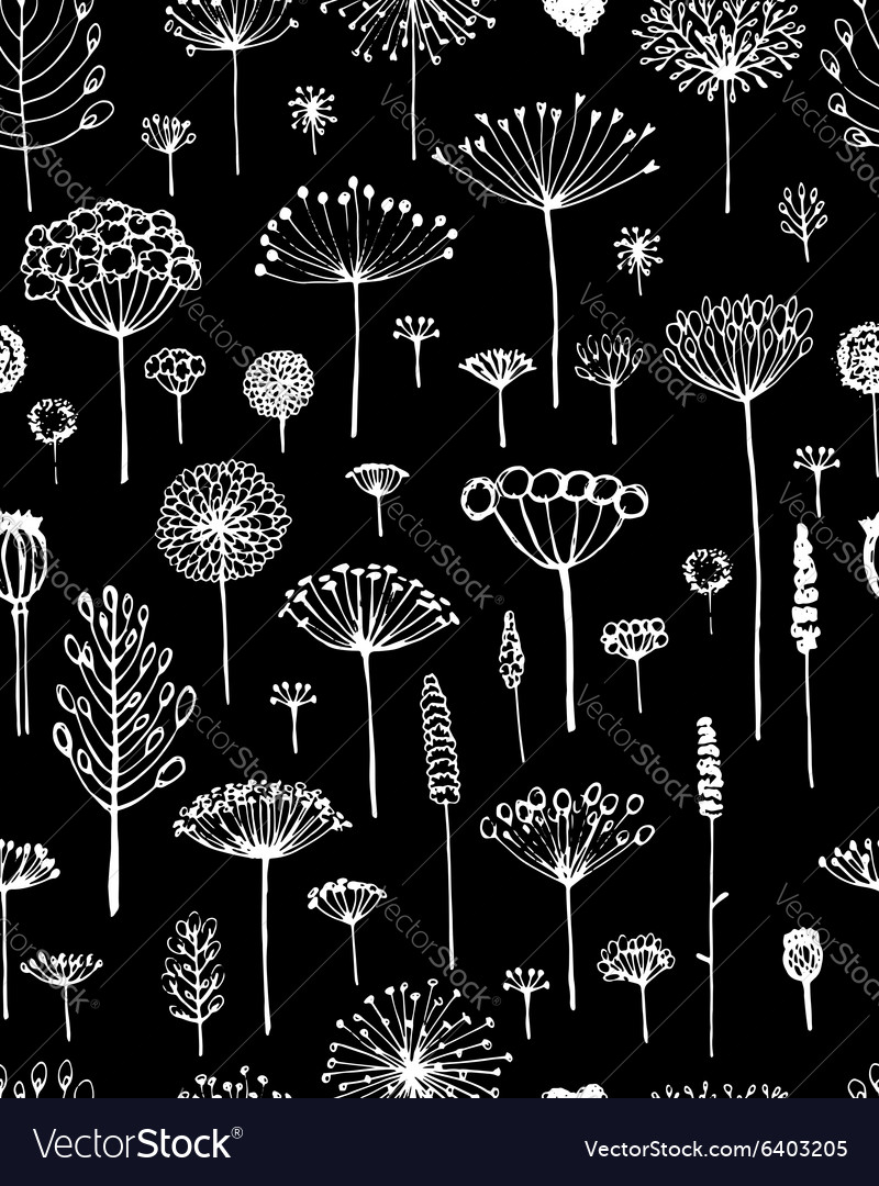 Floral seamless pattern sketch fro your design