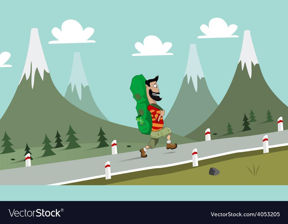 Hiker vector image