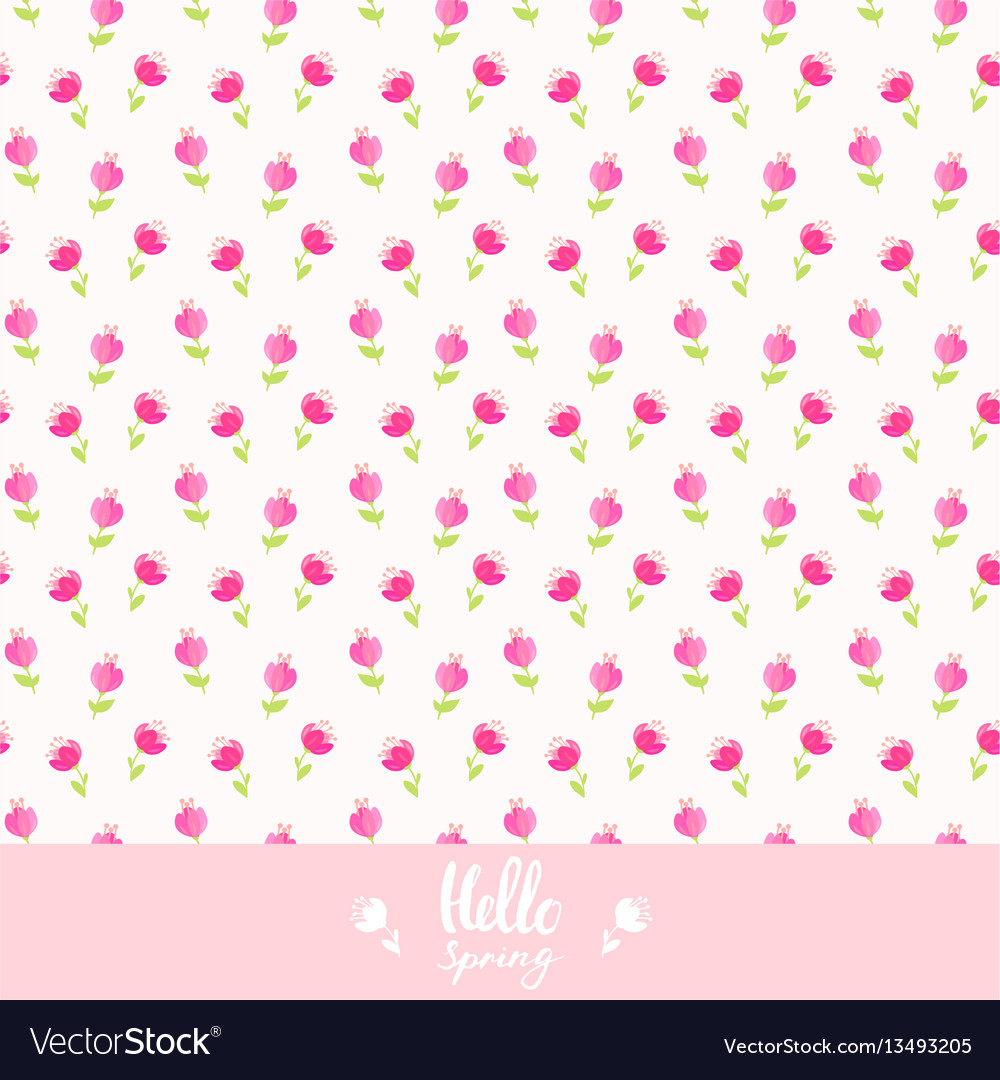 Seamless background flowers