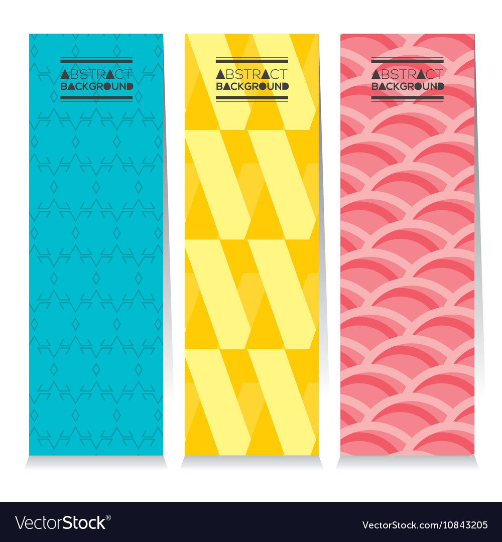 Set Of Three Graphic Vertical Banners vector image