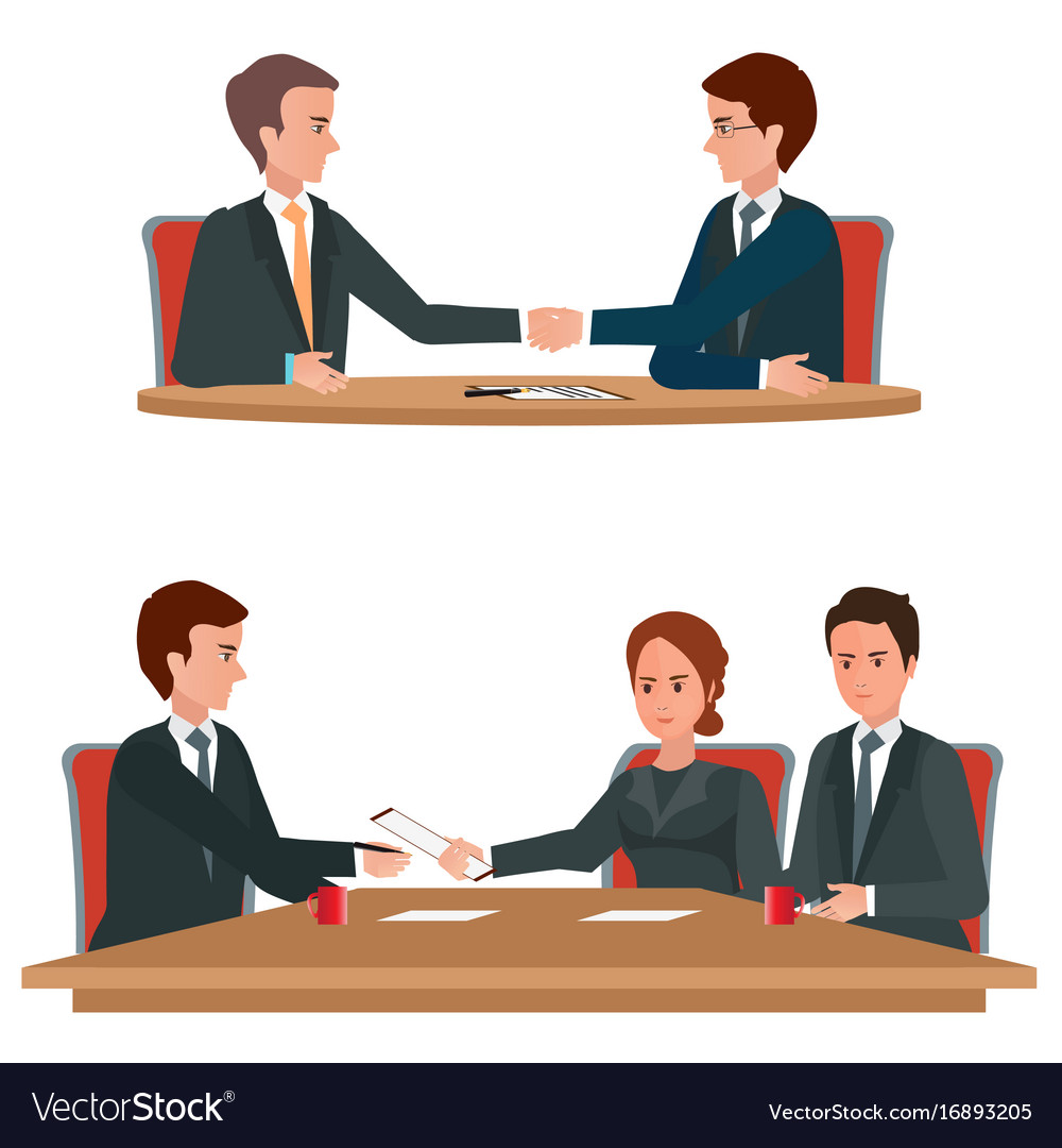 Successful business negotiations over a round