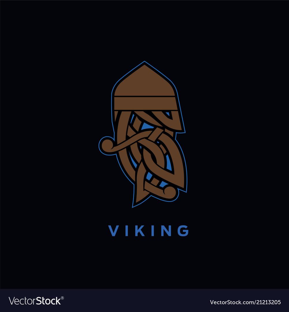 Viking head ornament