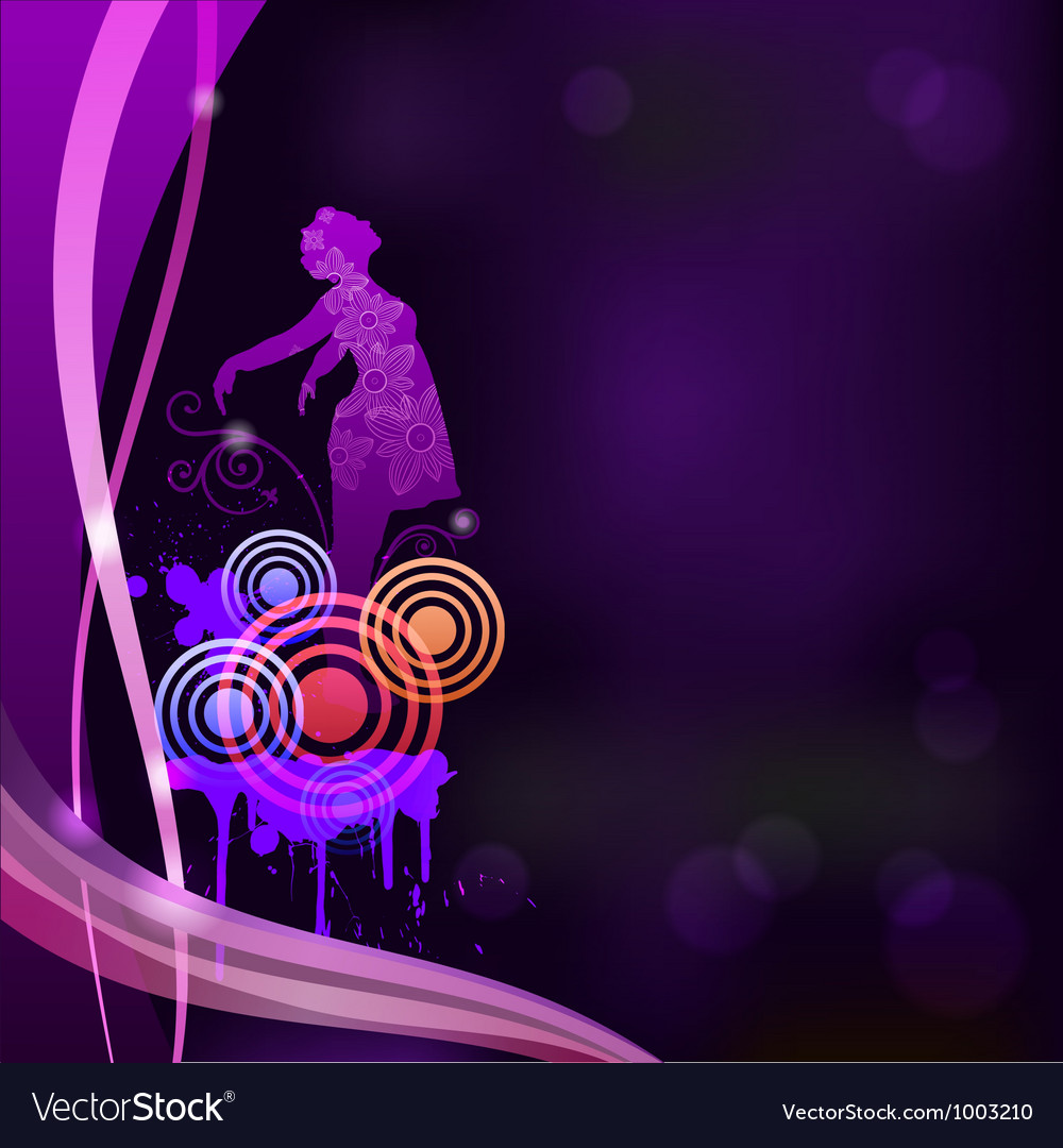 Abstract background with a silhouette of a girl ep