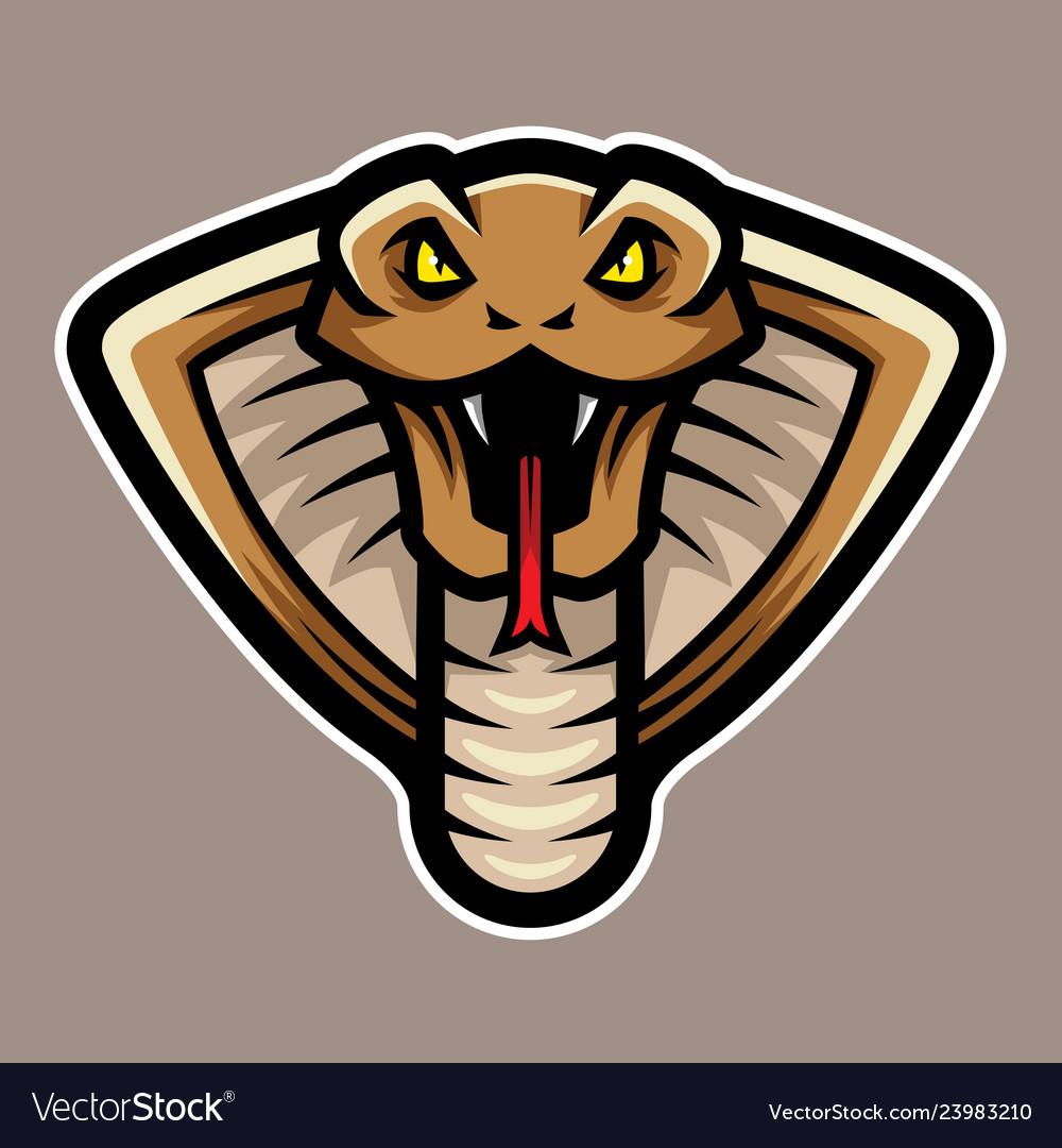 Cobra snake head logo mascot