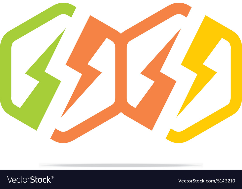 Electricity power icon design symbol abstract Vector Image