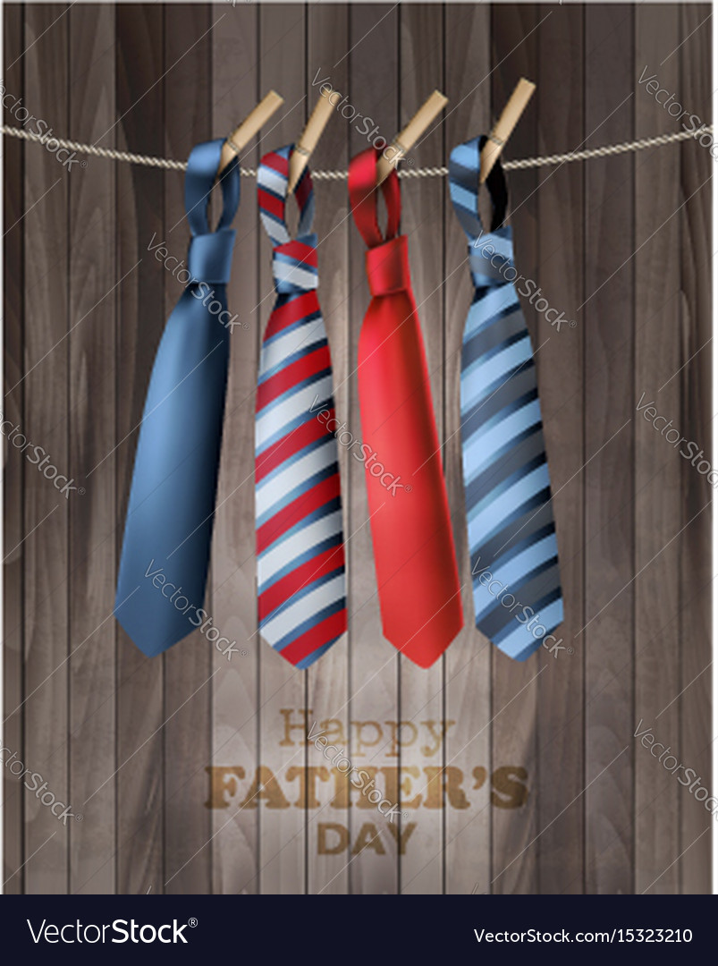 Happy fathers day background with a colorful ties
