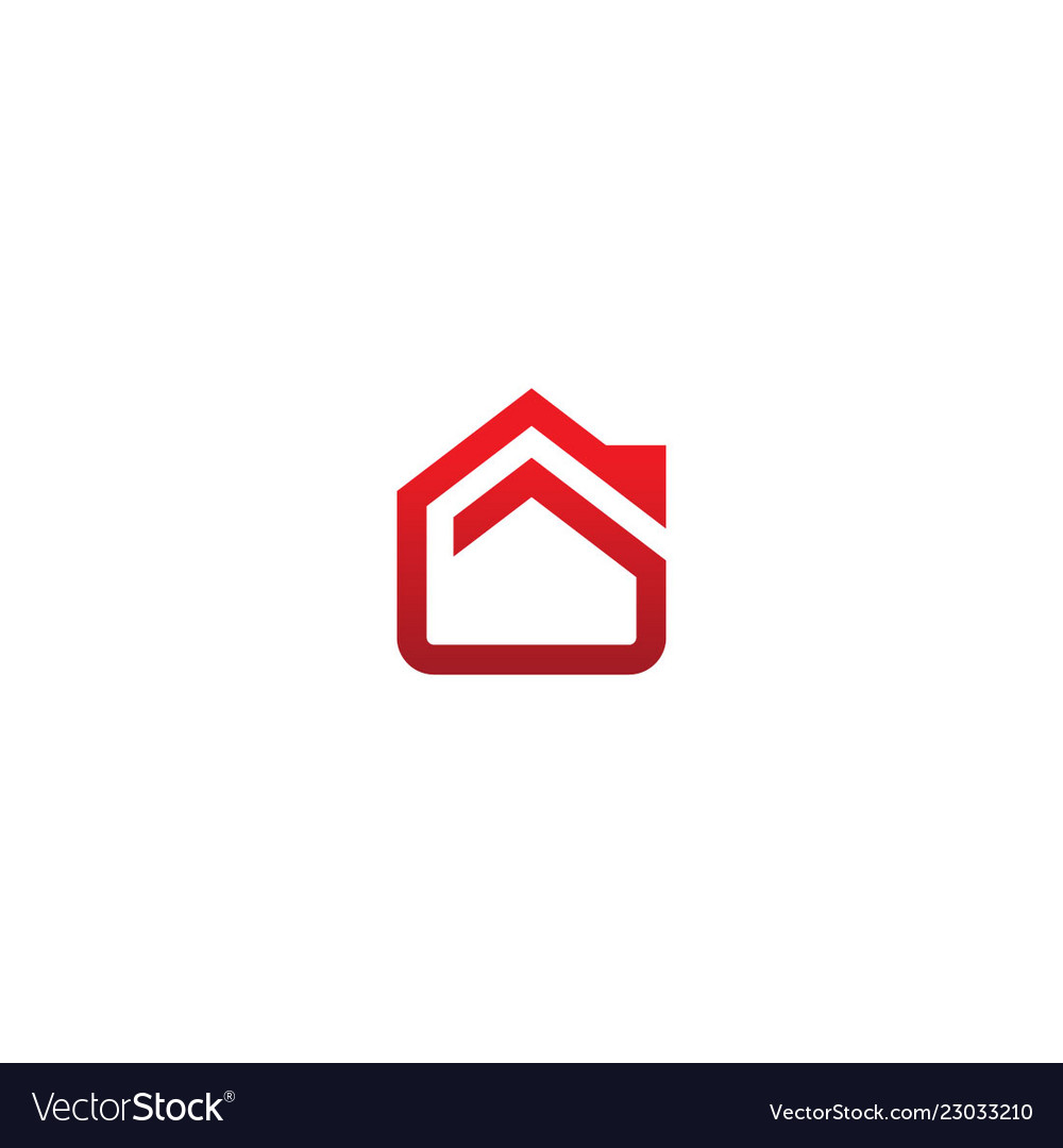 House realty abstract line company logo
