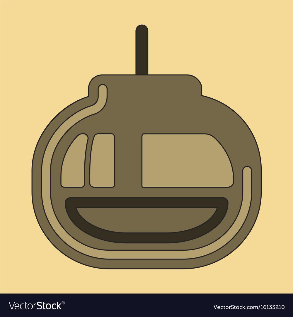 cabin ski cableway emblem