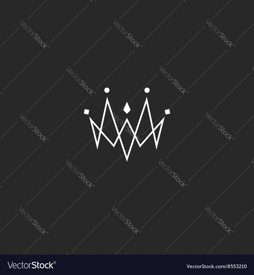 Monogram jewel crown logo jewelry emblem mockup