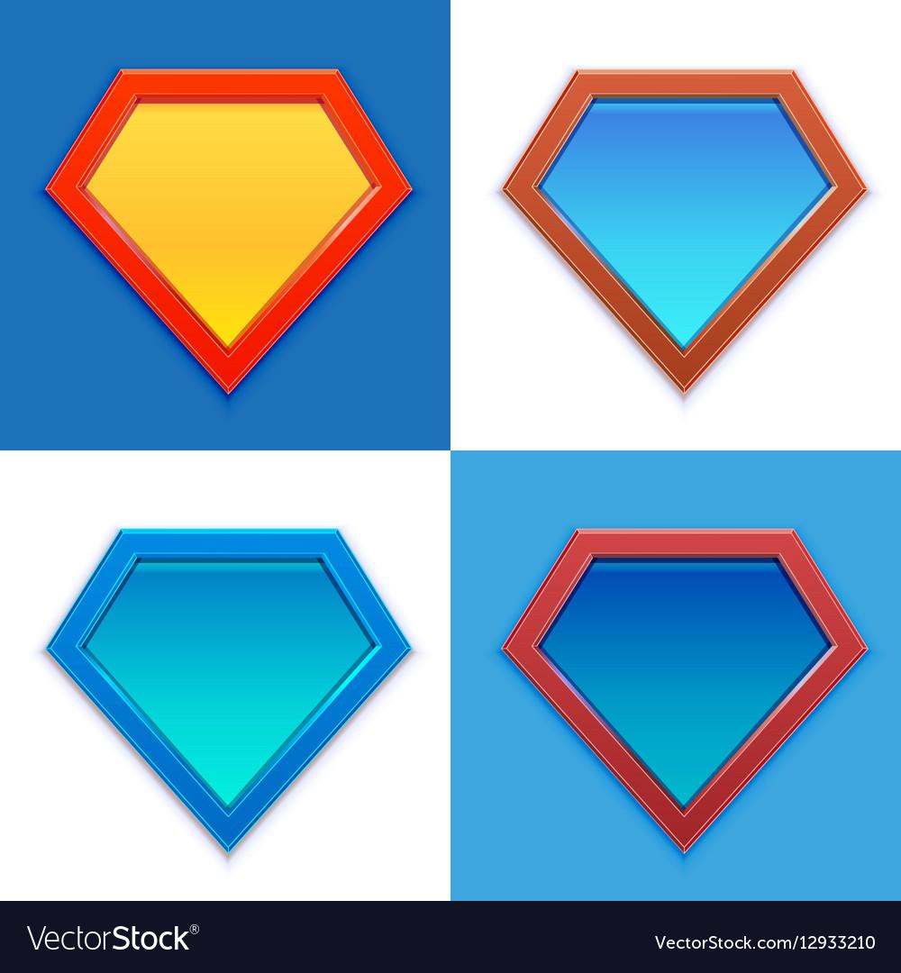 99 superhero logo template royalty free vector image
