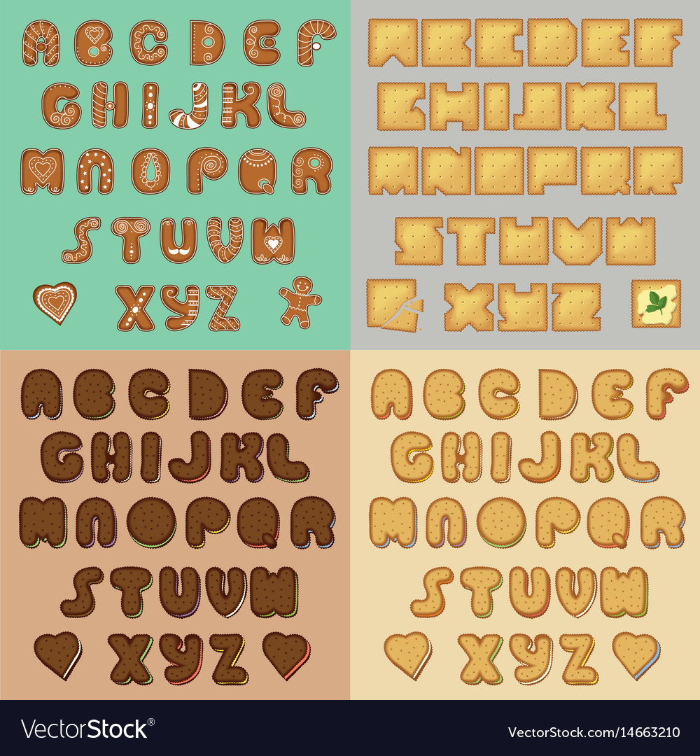 Sweet cookies alphabets artistic font