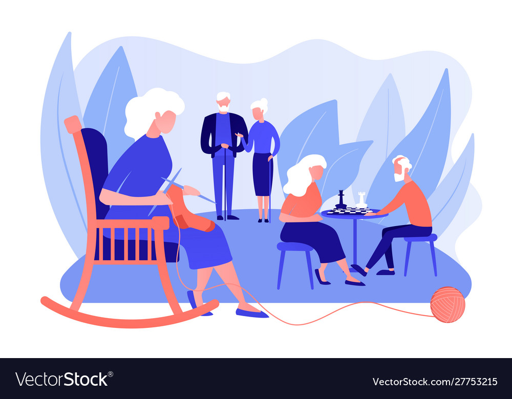 Activities for seniors concept