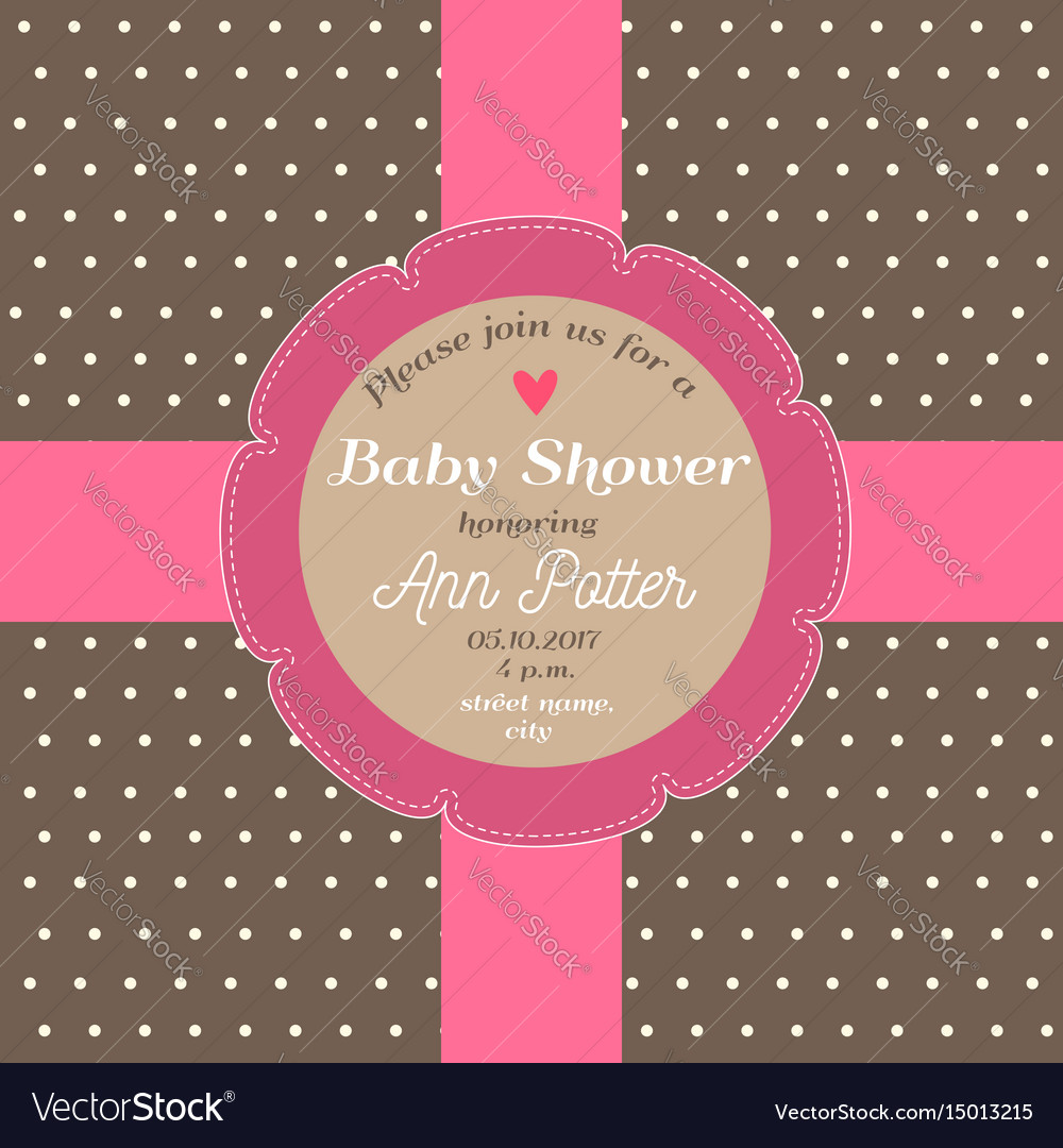 Baby shower invitation card with chocolate