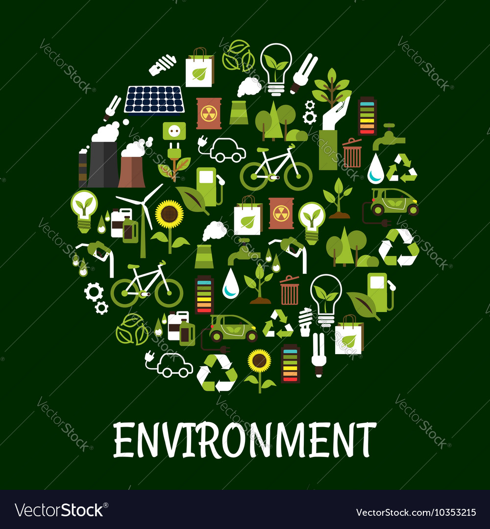 Environmental Ecology Friendly Poster Royalty Free Vector