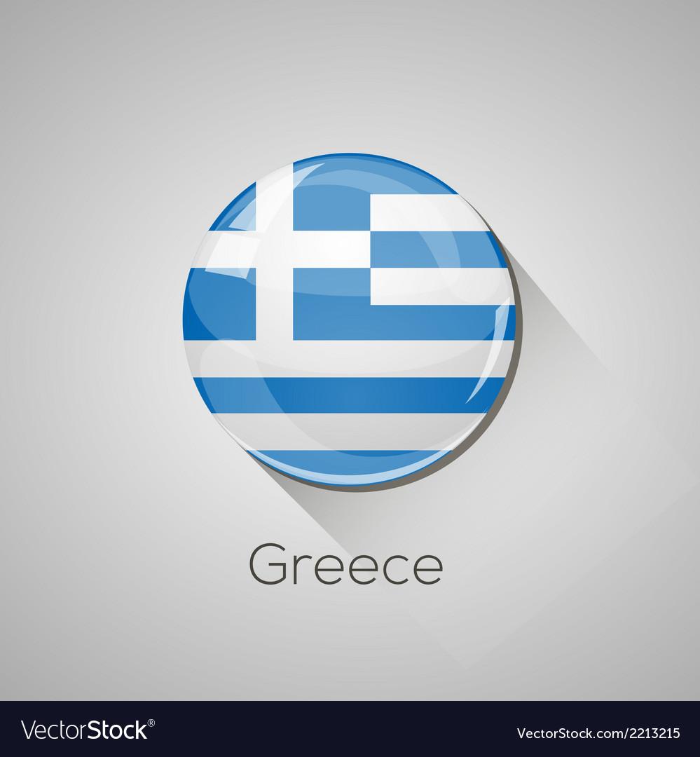 European flags set - Greece