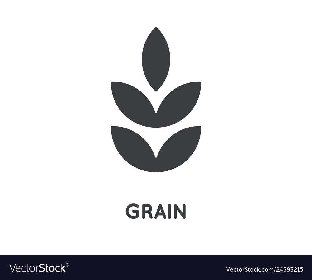 Grain icon grain glyph design concept agriculture