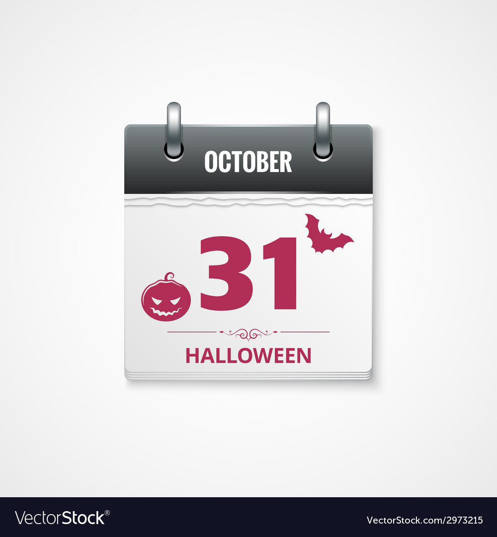 Halloween calendar background