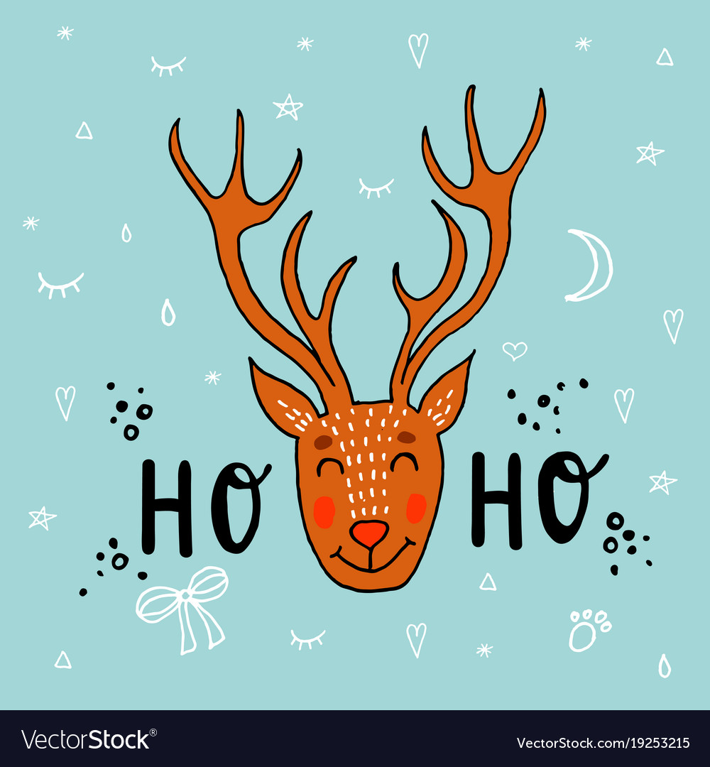Hand drawn of deer funny