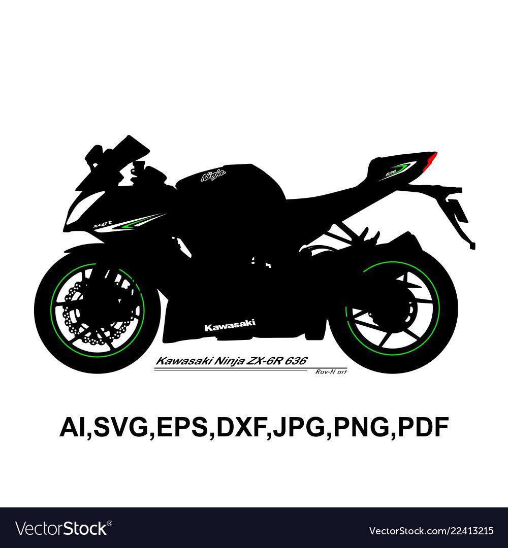 Kawasaki ninja zx 6r 636 vector image
