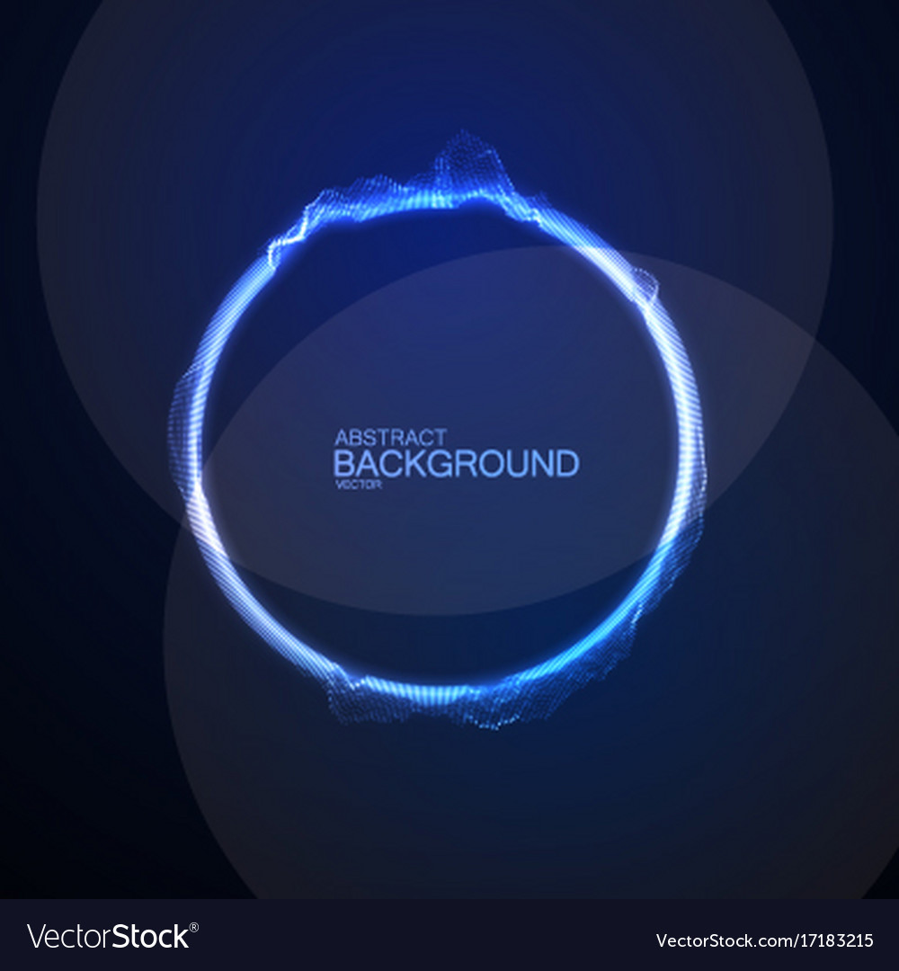 Neon glowing sound wave form vector image