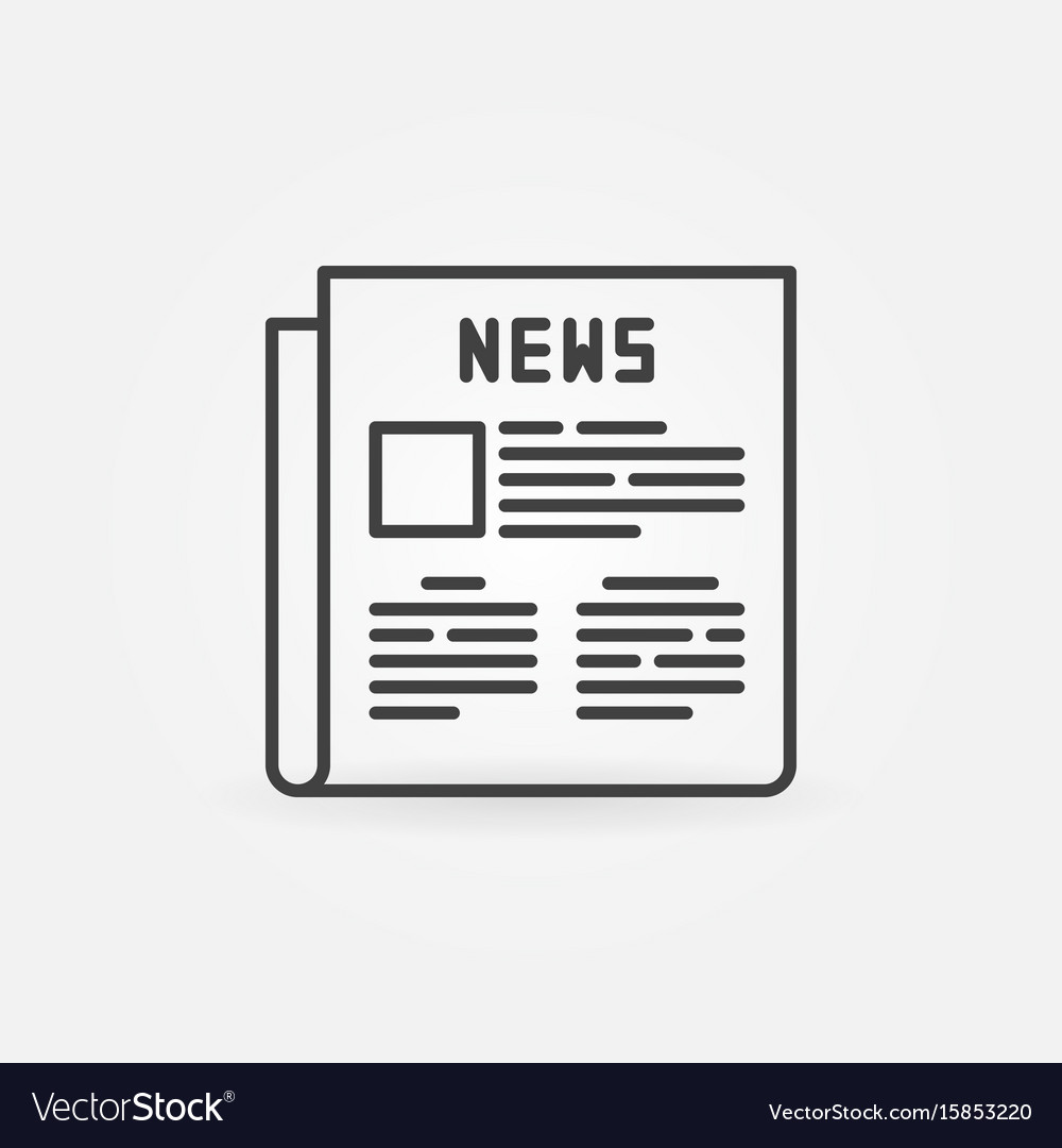 Newspaper Outline Icon Vector Image