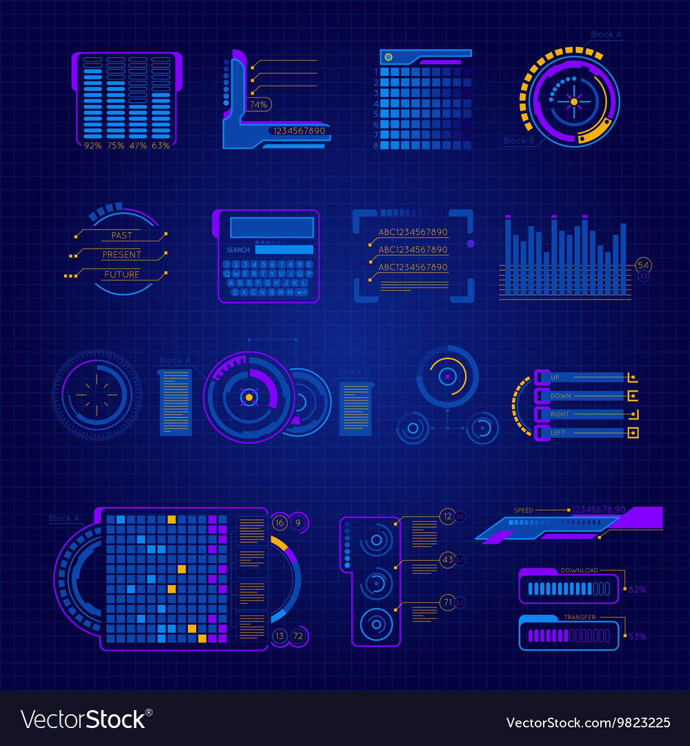 Abstract Future Interface Icon Set
