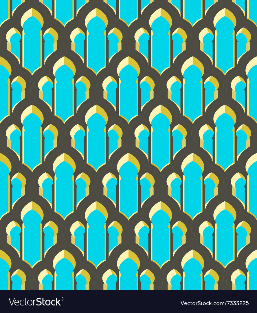 Abstract geometric ethnic ornament