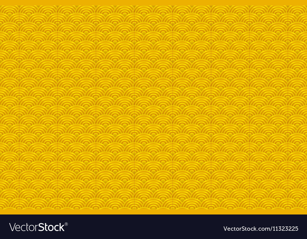 Chinese yellow gold seamless pattern dragon fish