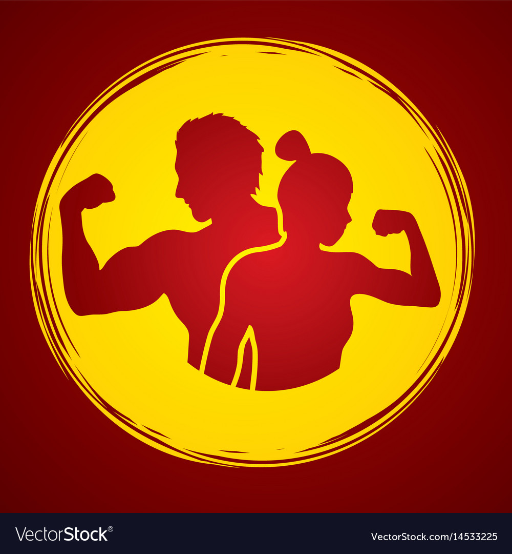 Fitness man and woman healthy human