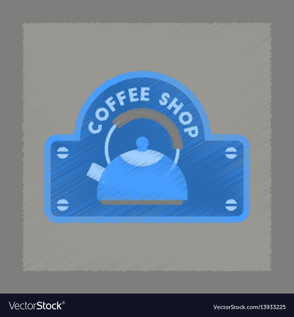 Flat shading style icon coffee shop logo