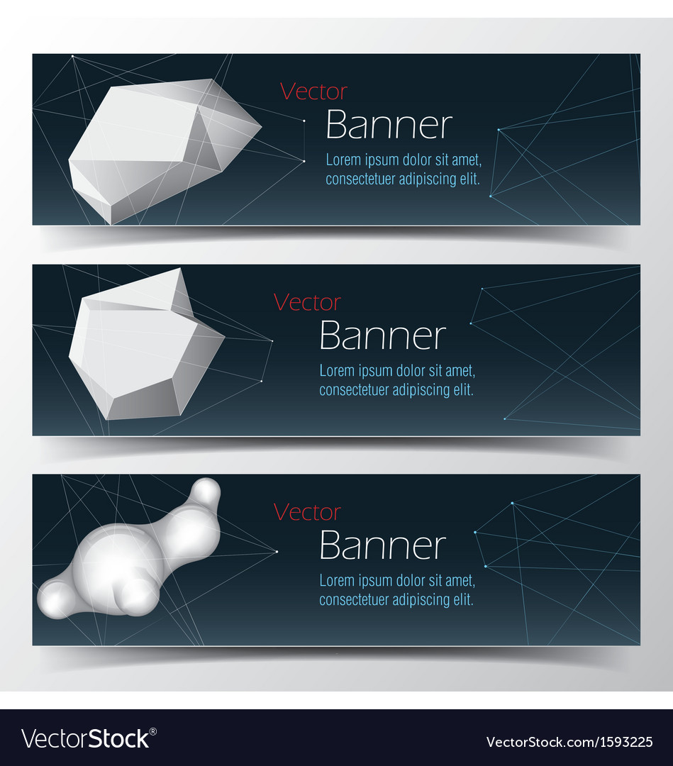 Geometrical banner set abstract background