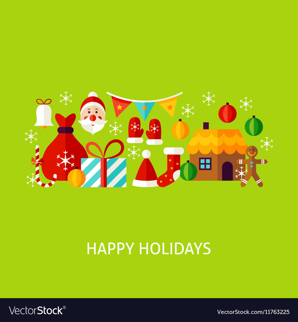 Happy Holidays Greeting Concept