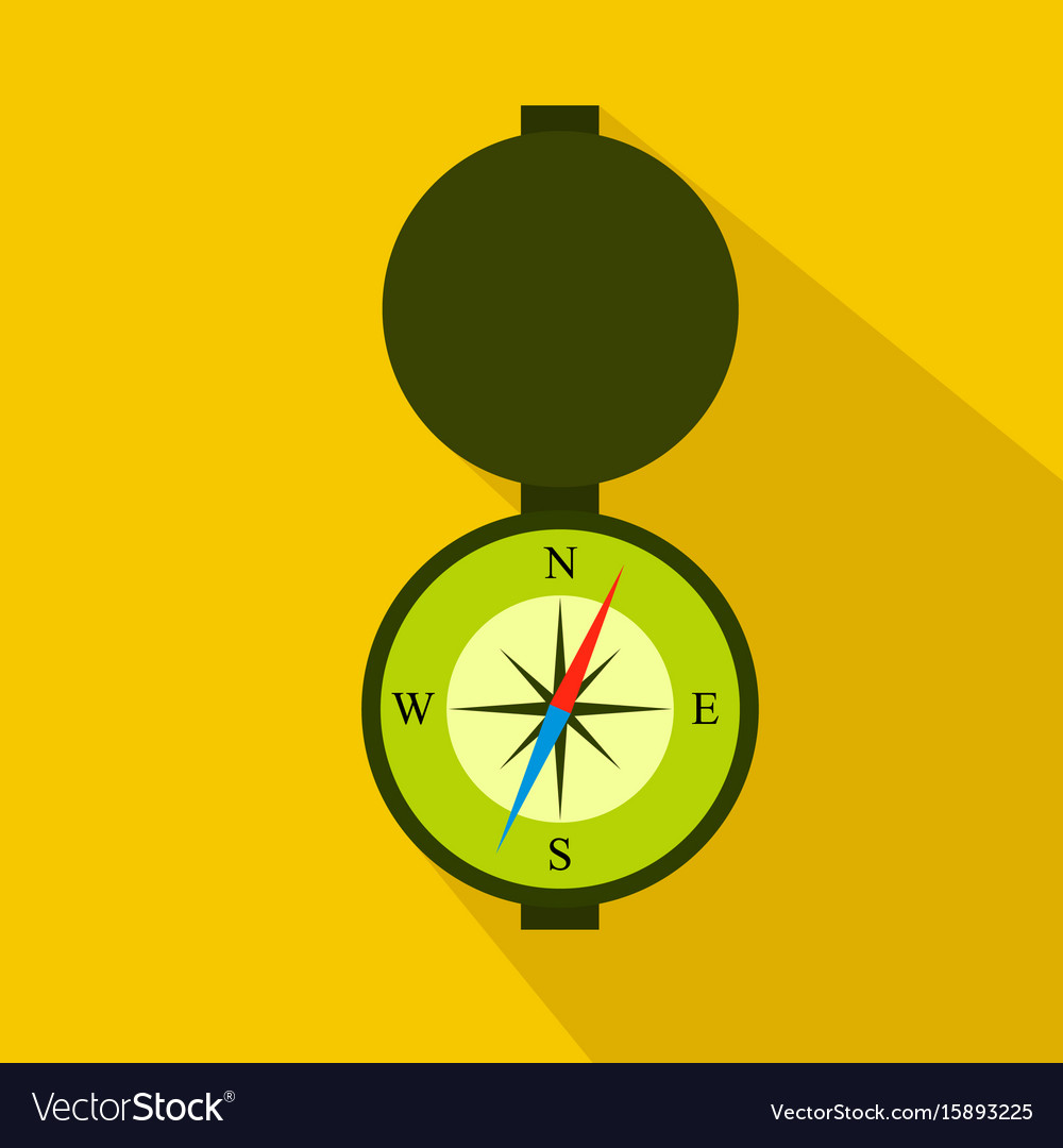 Hunting compass flat icon cartoon style