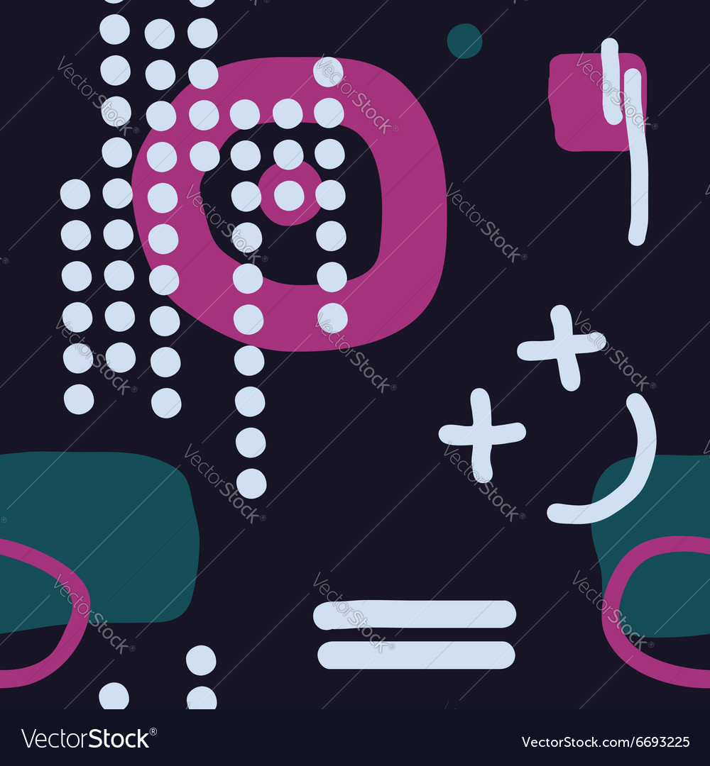 Modern hand draw abstract seamless pattern vector image