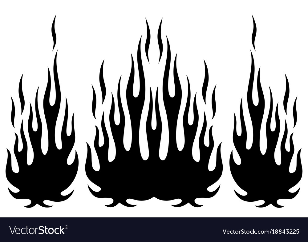 Tribal Hotrod Muscle Car Silhouette Flame Kit Vector Image