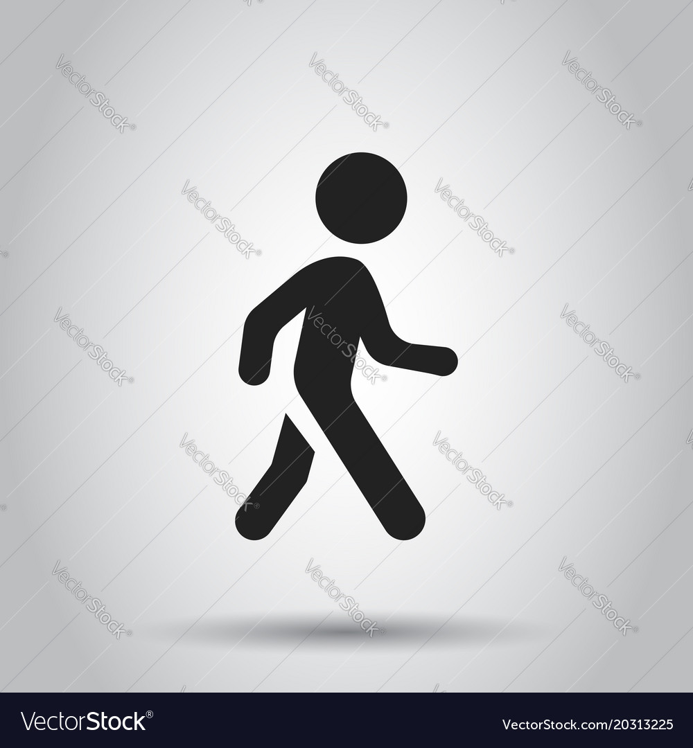 Walking man icon people walk sign business vector image