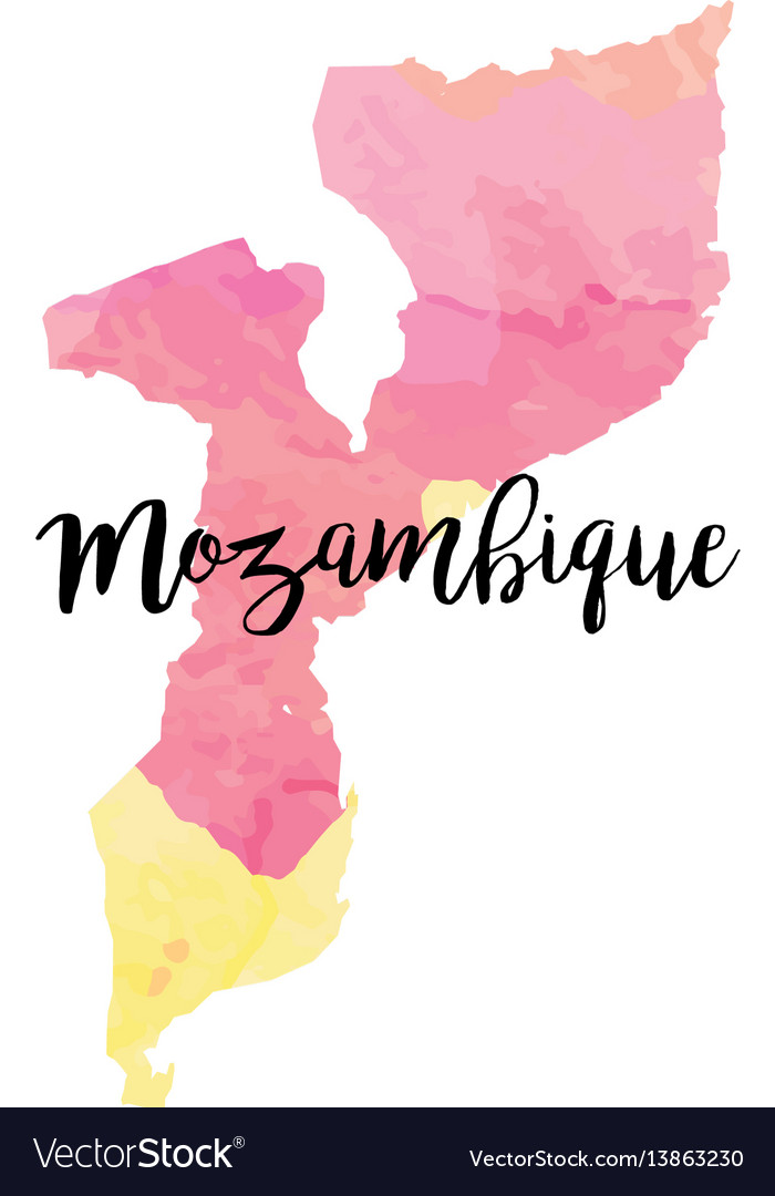 Abstract mozambique map vector image