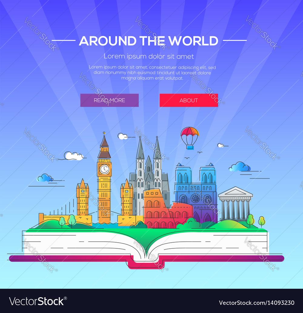 Around the world - line travel
