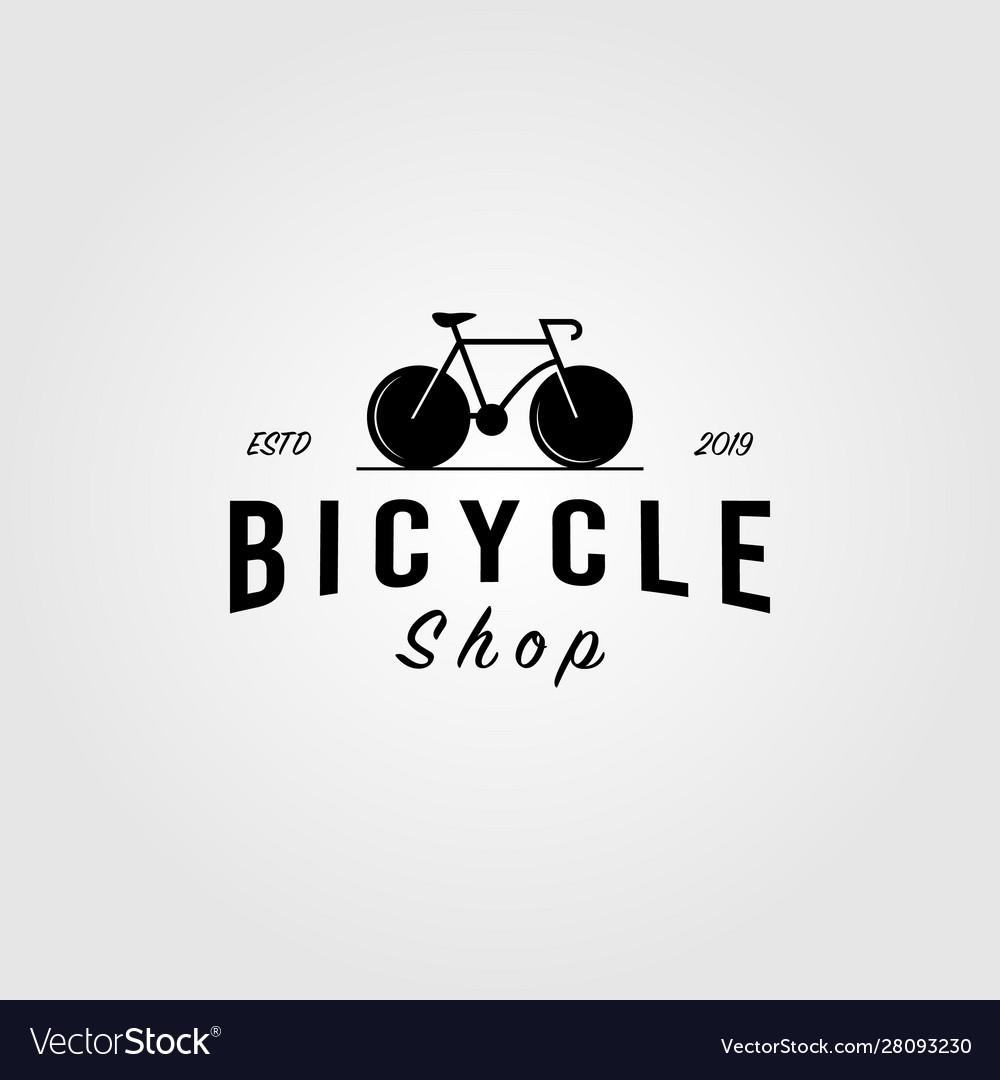 Bicycle bike shop logo minimalist vintage icon