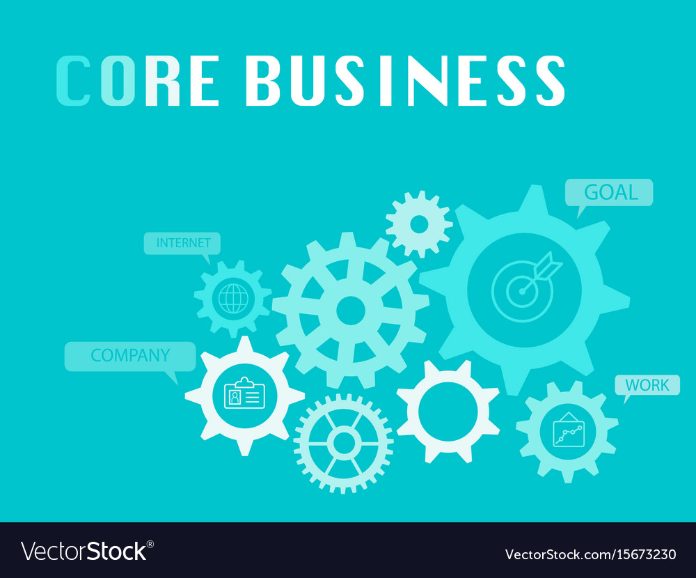 Core business graphic for business concept