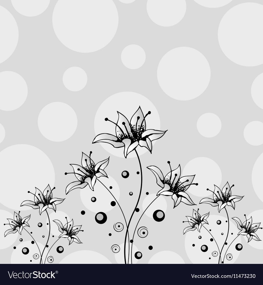 Flower hand drawn design vector image