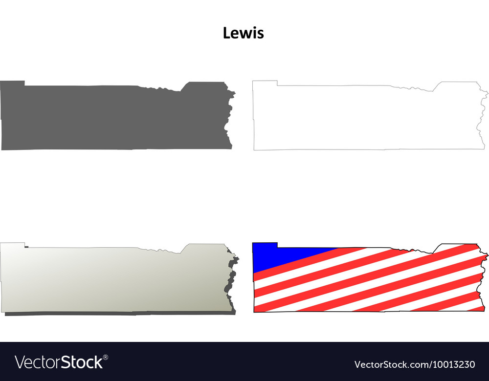 Lewis Map Icon Set vector image