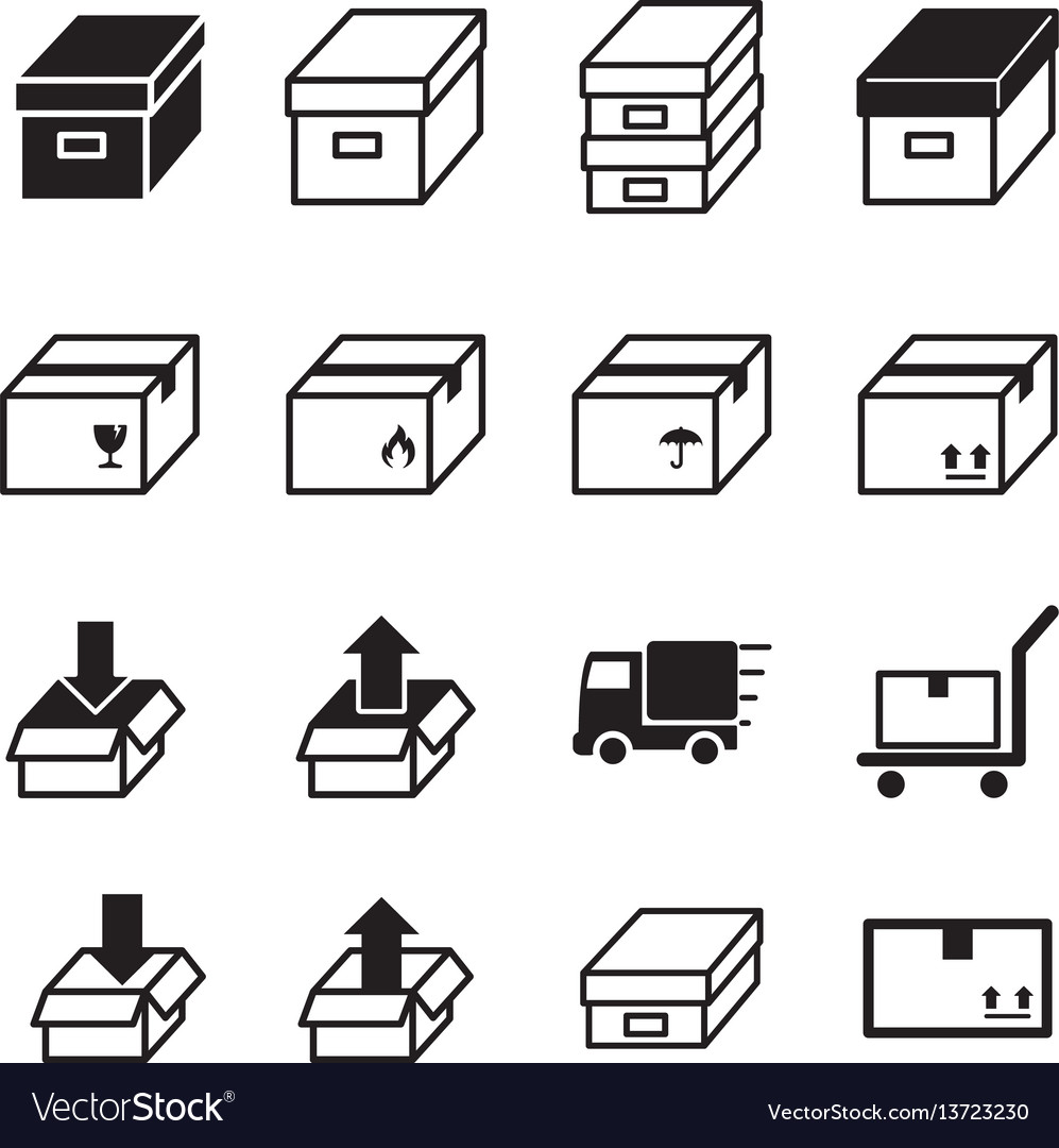 Logistic delivery icons symbo